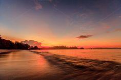 Twilight sunset on tropical beach by Pushish Images on @creativemarket