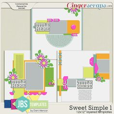 Sweet Simple 1 Templates (Commercial Use)