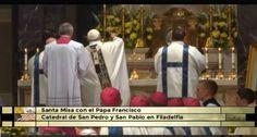 EL PAPA FRANCISCO PRESIDE MISA EN CATEDRAL DE SAN PEDRO Y SAN PABLO DE FILADELFIA  https://www.aciprensa.com/noticias/santa-misa-presidida-por-el-papa-francisco-en-la-catedral-de-san-pedro-y-san-pablo-78021/