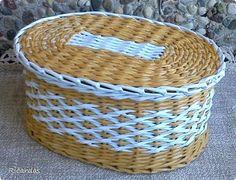 Produtos de artesanato de tecelagem Novamente ordena papel jornal Palhas 12 fotos