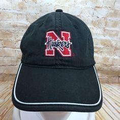 Nebraska Cornhuskers College Football Black Baseball Cap Hat Huskers Adjustable #Signatures #BaseballCap