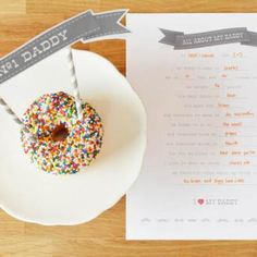 All About My Daddy Printable {Father's Day Printable}