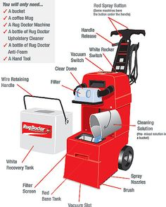 Upholstery Cleaner For Use With Our Carpet Cleaning Rental Machines. Carpet  Cleaning MachinesRug DoctorDiy ...