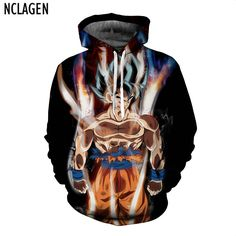 Men 3D Jackets Dragon Ball Z Ultra Instinct Son Goku Super Saiyan God Blue Hair Vegeta Print Cartoon Autumn Winter Coat // Price: $32.28 & FREE Shipping //    #fairytail #love #animeboy #onepiece