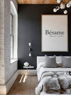Besame Wall Art Besame Mucho Print Kiss Me Print por printabold