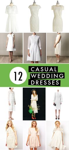 12 casual wedding dresses | Brooklyn Bride - Modern Wedding Blog