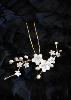 BESPOKE for Yuna_cherry blossom wedding hair pin 4