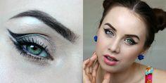 Smokey eyes, makeup look, double eyeliner