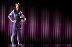 King Of Shaves photo shoot of bob skeleton Olympic athlete Shelley Rudman.