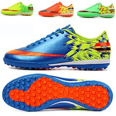 33e6f74ad Indoor Turf Soccer Cleats Shoes Men Kids Soccer Football TF Sole Trainers  Shoes  Unbranded Soccer