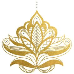"""4"""" x 4"""" henna inspiredmetallictemporary tattoo.Could be put on the back or on the wrist and combined with regular henna!"""