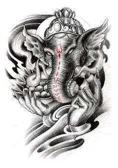 Ganesha Tattoo Design More