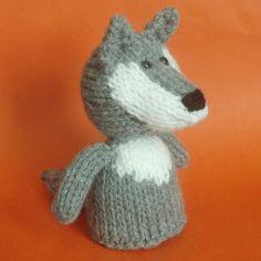 Wolf Toy Knitting Pattern (PDF). $3.50, via Etsy.
