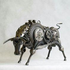 Animal Sculptures Made Out of Scrap Metal byTomas Vitanovsky Metals Recycled Art
