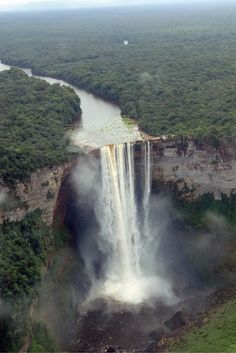 Kaieteur Falls in Guyana. Check out 10 of the most stunning waterfalls in the world!  Click through to read the full post!