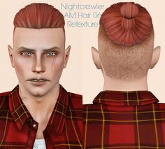 Nightcrawler AM Hair 06 retextured by Jassi - Sims 3 Downloads CC Caboodle