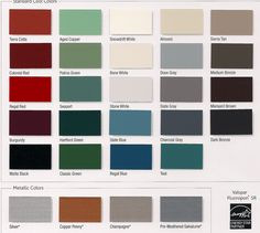 Metal Roofing And Siding Colors Finishes Guides And