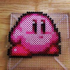 Kirby perler beads by knitsandperls