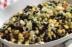 Receta Ensalada de porotos negros choclo y cebollines