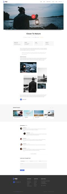 Nine Studio – An Amazing & Exquisite Film Maker PSD Template       Here comes the most beautiful film maker PSD template ever. Nine Studio has 05 stunning homepages, coming along with many other go...
