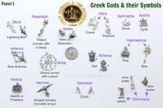 Greek Mythology themed charms for all demigods, PJ and HO fans!