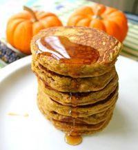 Paleo Pumpkin Pancakes - almond flour version is REALLY good!!!!!