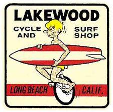 """Surf Malibu"" California 1960's Vintage-Style Surfing Travel Sticker/Decal - Google Search"