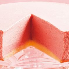 Strawberry Bavarian Mousse Cake - I wonder if you can replace the gelatin with agar agar to make it vegetarian. Just Desserts, Delicious Desserts, Jello Desserts, Cake Recipes, Dessert Recipes, Jello Recipes, Dessert Ideas, Agar Agar, Brownies