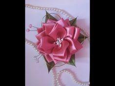 DIY цветы из лент канзаши. Мастер-класс канзаши - YouTube