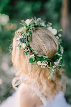Flower Girl's Delicate Floral Crown | Brides.com
