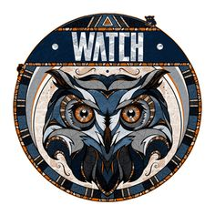 Watch by Andreas Preis | Hand-Drawn Owl Illustration This looks like an Indian owl design Serenity!!