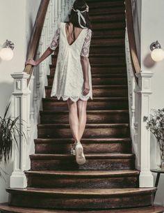 Superbe robe de mariée originale courte personnalisée