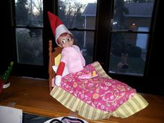 """""""Breakfast in bed""""; Elf on the Shelf 2011"""