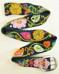 Swirly Flowers Belt
