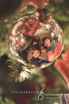 fun Christmas picture This will soo be our next christmas once bella is here :)