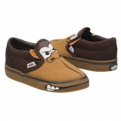 Vans Classic Slip-On Tod Shoes (Espresso/Lt Gum) - Kids' Shoes - 4.0 M