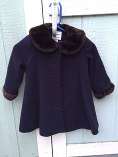 Florence Eiseman Girls Faux Fur Trimed Coat 2T Vintage Style #Coat