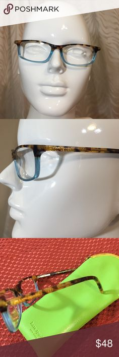 Kate spade eyeglasses Brown tortoiseshell and blue eyeglasses by Kate spade. Style Jodi and +1.00 reading glasses. Green case included kate spade Accessories Glasses