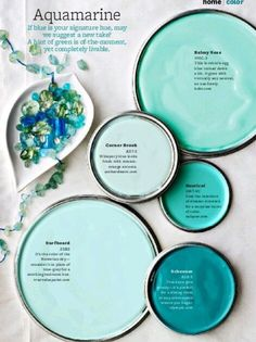 38 Ideas for bath room paint schemes better homes and gardens Blue Paint Colors, Paint Colors For Home, Bathroom Paint Colours, Beachy Colors, Bathroom Green, Attic Bathroom, Brown Bathroom, Downstairs Bathroom, Bathroom Fixtures