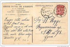 Roma - Grand Hotel de l'Europe - viaggiata in Russia nel 1911