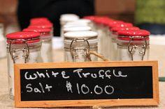 Oregon white truffle salt for sale at the Oregon Truffle Festival in Eugene