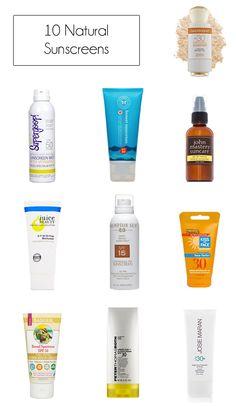 MadeByGirl: BEAUTY: 10 Natural sunscreens