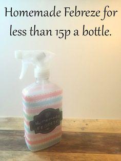 #ThriftyThursday - Homemade Febreze for under 20p a bottle