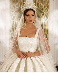 February 02 2020 at fashion-inspo Extravagant Wedding Dresses, Princess Wedding Dresses, Wedding Dress Styles, Dream Wedding Dresses, Bridal Dresses, Wedding Gowns, 40s Wedding, Fall Wedding, Wedding Dress Bustle