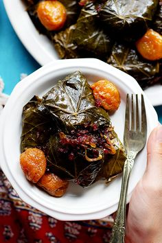 This Persian dolmeh recipe is a traditional Iranian recipe and a family favorite. This version of stuffed grape leaves is made with meat, rice and herbs. It's a labor of love and absolutely worth it! Iranian Dishes, Iranian Cuisine, Summer Recipes, Great Recipes, Favorite Recipes, Amazing Recipes, Delicious Recipes, Stuffed Grape Leaves, Middle Eastern Recipes