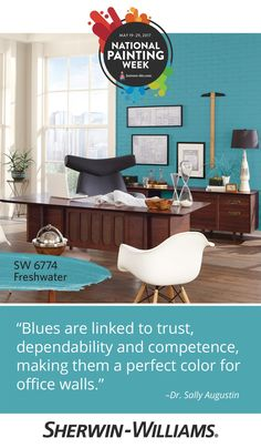 Design Tips from Influential Experts - Sherwin-Williams Paint Your House, Spring Painting, Color Psychology, Office Walls, Create Space, Home Improvement Projects, Color Trends, Color Palettes, Staging