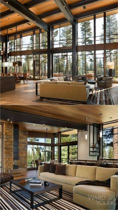 Martis Modern Mountain Home von Ward Young Architecture - Mountain Home Decor Modern Mountain Home, Mountain Homes, Mountain House Decor, Modern House Design, Wood House Design, Great Rooms, My Dream Home, Home Interior Design, Future House