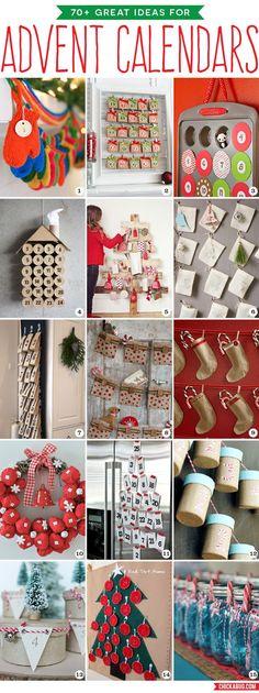 70+ great ideas for DIY advent calendars!