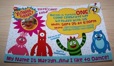 DIY Yo Gabba Gabba! Invitations