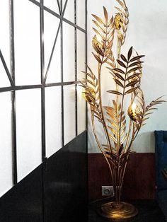 Maison Jansen brass palm tree lamp on Thou Swell @thouswellblog